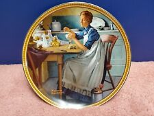 Vintage Norman Rockwell Working in the Kitchen Collectible Plate Knowles China