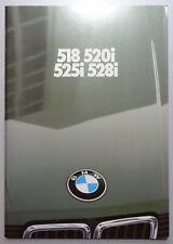 V24368 BMW SERIE 5 518i 520i 525i 528i - CATALOGUE - 01/82 - A4 - D