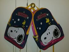 2 Snoopy and Woodstock Backpack s with Stars (pair) sparkles! Woodstalk Peanuts