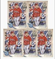 (5) 2018 Topps Gypsy Queen RHYS HOSKINS Rookie #199 Philadelphia Phillies RC LOT