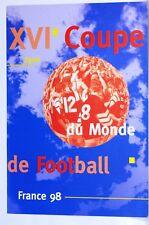 Encart  1er jour LYON    Football  France 98 bloc 4 timbres notice
