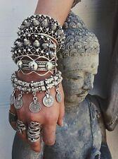 Bohemian Moon Lovers Turkish Coin Silver Antalya Bracelet Gypsy Beachy Coachella