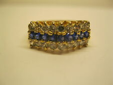 Vintage Women's 14KT Yellow Gold HGE CZ Stone Ring Size 10