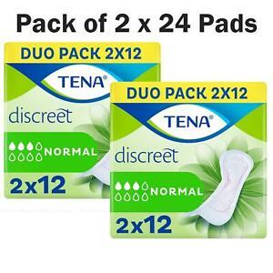 Tena Lady Discreet Normal Duo Set Breathable Triple Protect -Pack of 2 x 24 Pads