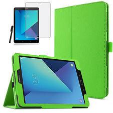 Samsung Galaxy Tab s3 9.7 t820/t825 Pelle-Finta Case Astuccio + Pen + Pellicola-Verde 2