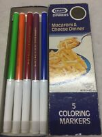 Kraft Dinners Macaroni & Cheese 50th Year Anniversary Coloring Markers w/ Box
