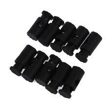 Black Plastic Toggles Spring Stop Drawstring Rope Cord Locks 10 Pcs V8C8