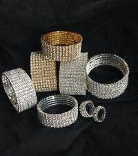 Bracelet Wristband Rhinestone Crystal Stretch Bangle Elastic Wedding Bridal UK