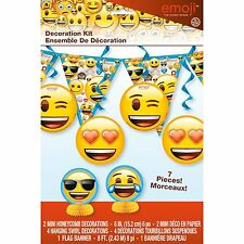 Emoji Emoticons Children's Birthday Party Decoration Kit Hanging Banner Kids Fun