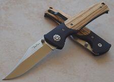 Couteau BenchMark Wood Handle Lame Acier Inox Manche Bois/G-10 BMK068