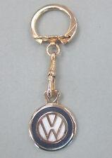 Volkswagon Gold Logo Keyring Vintage VW Crest NOS