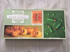 Anne Geddes Deluxe 3 Puzzle Set 100pc, 550pc, 700pc Set Three #3601-6 Produce