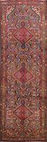 Excellent Vintage Hamedan Geometric Tribal Runner Rug Hand-knotted 3'x10' Carpet
