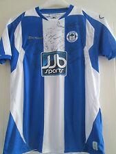 Wigan Athletic 2008-2009 Squad Firmado Home Football Shirt Coa / 39444