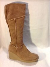 Dolcis Brown Knee High Suede Boots Size 39