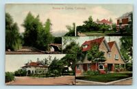 EARLY 1900s HOMES OF COVINA CALIFORNIA ARCHITECTURE MULTIVIEW POSTCARD