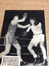 Q1-g Ephemera 1953 Picture Boxing Edgar Basel Gerald John