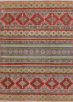 NEW Geometric South-western Super Kazak Oriental Area Rug Hand-Knotted WOOL 5x7