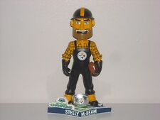 STEELY McBEAM Pittsburgh Steelers Mascot Bobble Head 2009 Super Bowl 43 Champs
