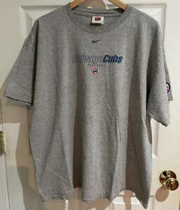 Nike Team Chicago Cubs Baseball Gray T Shirt Men's Size XL MLB Vintage