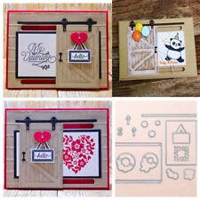 Barn Door Metal Cutting Dies Stencil Scrapbooking Embossing Card Paper Craft DIY
