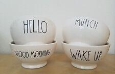 New Rae Dunn by Magenta GOOD MORNING HELLO WAKE UP and MUNCH Bowl Set Farmhouse