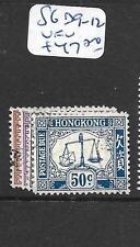 HONG KONG (P2905B)  POSTAGE DUE SG D9-12   VFU