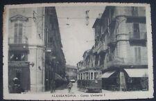 CARTOLINA ANTICA-ALESSANDRIA-CORSO UMBERTO I-CON TRAM !!-INIZIO 900