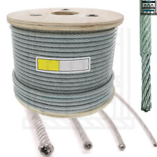 Clear Coated Steel Wire Rope Cable 1mm 2mm 3mm 4mm 5mm 6mm 8mm 10mm 12mm