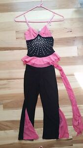 Girl's sparkly black and pink dance costume