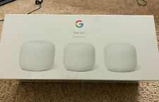 New Sealed Google Nest Wi-Fi AC2200 Mesh System Router+2 Add-On Points 3-PK Snow
