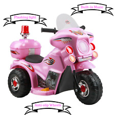 Pink Kids Tricycle Bike Ride On Motorbike Battery Powered Lights Music Gift Girl