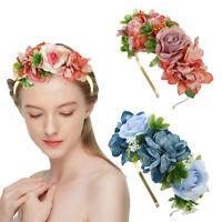 Women Flower Headband Crown Garland Hair Hoop Wreath Hairband Bridal Accessories