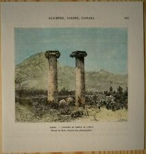 1884 Reclus print COLUMNS OF TEMPLE OF CYBELE, SARDIS,TURKEY (#54)