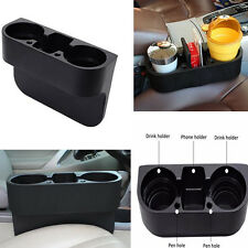 Portable Car Cup Holder Drink Bottle Seat Seam Gap Wedge Phone Storage Box Black