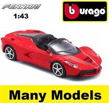 BBURAGO FERRARI RACE & PLAY 1:43 SCALE DIECAST MODEL CAR GIFT TOY MANY MODELS