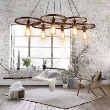 6 Lighting Wagon Wheel Chandelier Cabin Lodge Decor Rustic Light Fixture  Ceiling