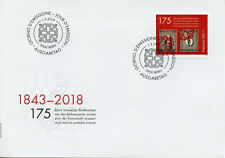 Switzerland 2018 FDC Swiss Stamps 175 Years 1v Set Cover Stamps-on-Stamps