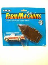 Ertl Replica Farm Machines Ford F-250 Pickup With Machine Trailer # 328 Die Cast