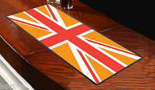 ORANGE UNION JACK BAR RUNNER IDEAL FOR ANY OCCASION PUBS CLUBS SHOPS L&S PRINTS