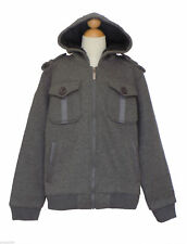 Boy Winter, Jacket Coat w/Hat, Gray, Size: Medium (6-7 years)