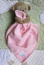 Child of Mine Pink Plush Sweet Cupcake Monkey Rattle Toy Girl Security Blanket
