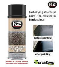 K2 PRO BUMPER STRUCTURE SPRAY BLACK STRUCTURAL PAINT FOR PLASTICS FAST DRYING