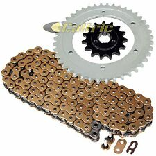 Gold O-Ring Drive Chain & Sprockets Kit Fits SUZUKI DR650SE 1996-2017