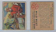 1949 Bowman, Wild West, #A-22 Out To Stake A Claim