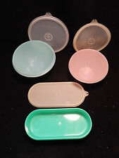 Vintage Tupperware Wonderlier Nesting Bowls 2 pcs & Oblong w/ lids USA B7