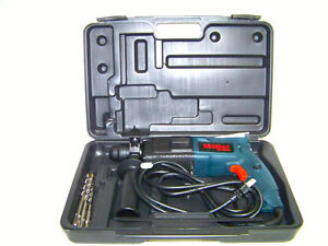 "MOLLER H D 3/4"" Electric Rotary Hammer Drill Kit Bits SDS Plus Concrete Steel"