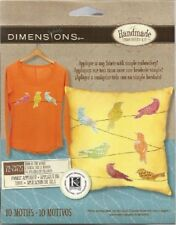 """Embroidery Kit BIRD IS THE WORD 10 Cotton Motifs 6"""" Birds Applique to Any Fabric"""