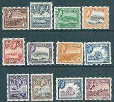 ANTIGUA 1953 QE2 mint short SET to 60c