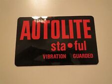 FORD AUTOLITE STA FUL STAFUL VIBRATION GUARDED BATTERY BATTERIES DECAL NEW VINTA